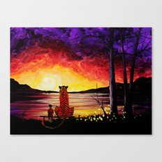 Calvin And Hobbes Art Painting Canvas Print