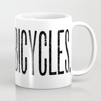bicycles Mugs featuring Bicycles by redone