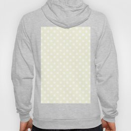 Small Polka Dots - White on Beige Hoody