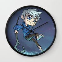 jack daniels Wall Clocks featuring Jack by Meekobits