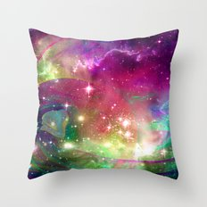 Space Dragons Throw Pillow
