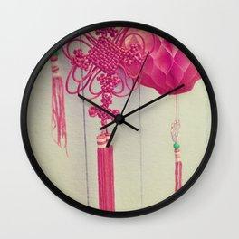Chinese Lanterns III Wall Clock