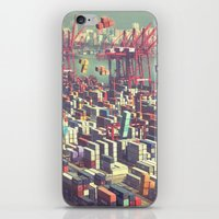 tetris iPhone & iPod Skins featuring Pier Tetris by Ivan Guerrero
