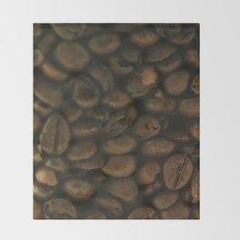 Coffee pattern, fine art photo, Coffeehouse, shops, bar & restaurants, still life, interior design Throw Blanket