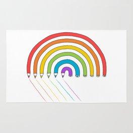 Pencil Rainbow Rug