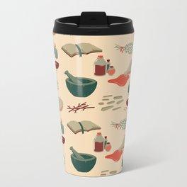 Alchemy Pattern Metal Travel Mug