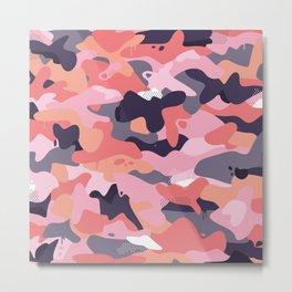 Pink camouflage Metal Print