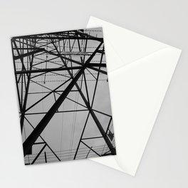 electricity pylon Stationery Cards