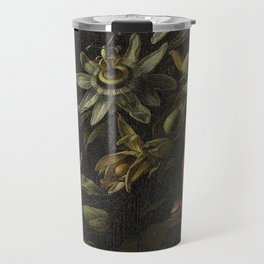Still Life with Passionflowers - Elias van den Broeck (1670 - 1708) Travel Mug