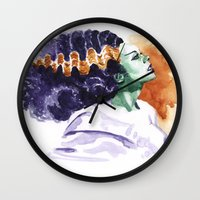 bride Wall Clocks featuring Bride by kenmeyerjr
