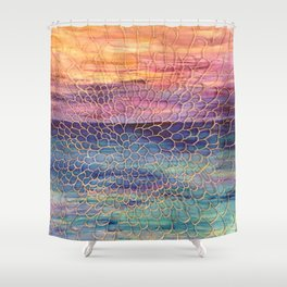 Looking through Lace Shower Curtain
