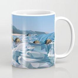 Geometric Cannon Beach Coffee Mug