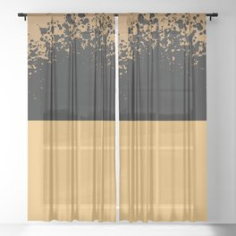 Pollock inspoired abstract art - Art, interior, drawing, decor, design, bauhaus, abstract, decoratio Sheer Curtain