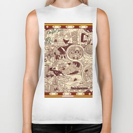 HP Inspired Chamber of Secrets Biker Tank