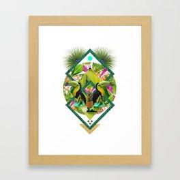 ▲ TROPICANA ▲ by KRIS TATE x BOHEMIAN BLAST Framed Art Print