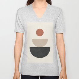 Geometric Modern Art 30 Unisex V-Neck