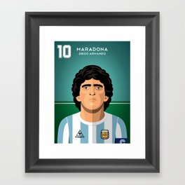 Maradona 1986 Framed Art Print