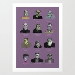Field Guide to Man-Made Monsters (purple) Art Print