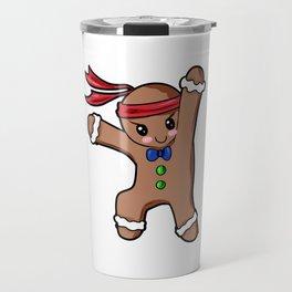 Gingerbread Man Christmas Present Gift Baking Cartoon Travel Mug