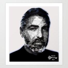 Jawge Clooney B&W Art Print