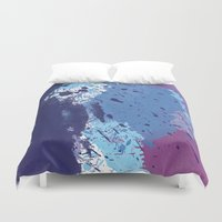 splatter Duvet Covers featuring Splatter by initiale