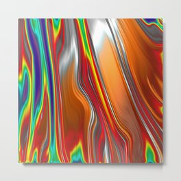 Monochrom Color Splash Abstract Metal Print