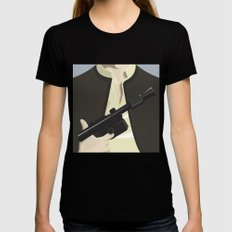 Han Solo - Starwars Womens Fitted Tee Black SMALL