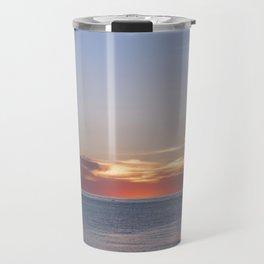 Sunset at Etretat, France Travel Mug