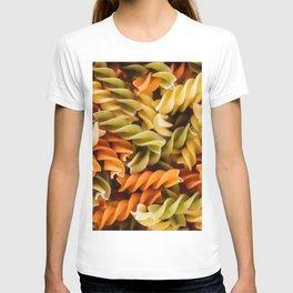 Pasta Noodles Pattern (Color) T-shirt