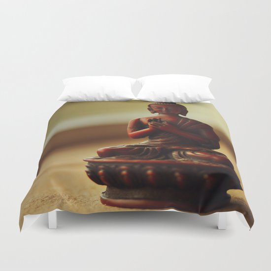 Peace from Buddha Duvet Cover