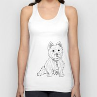 westie Tank Tops featuring Westie Sketch by Circus Dog Industries