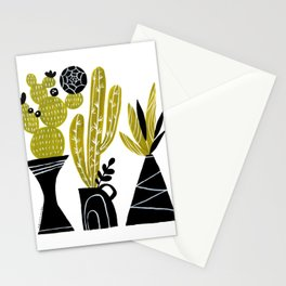 GREEN AND BLACK CACTUS Stationery Cards
