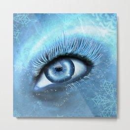 Winter Eye Metal Print