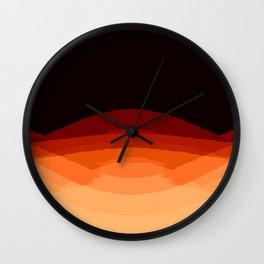 Dark Orange Ombre Wall Clock