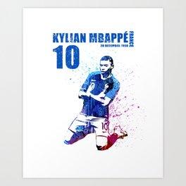 WORLD CUP 2018  FRANCE #blue 10 Art Print