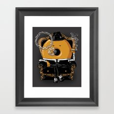 Gangster Donut Framed Art Print