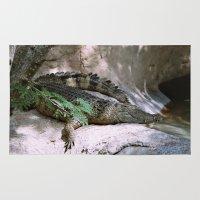 crocodile Area & Throw Rugs featuring crocodile by lennyfdzz