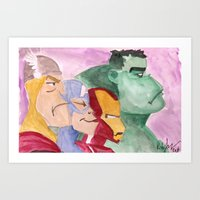 avenger Art Prints featuring Avenger by Richtoon