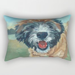Wheaton Terrier Dog Portrait Rectangular Pillow