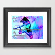 The Meaning of Joy Framed Art Print