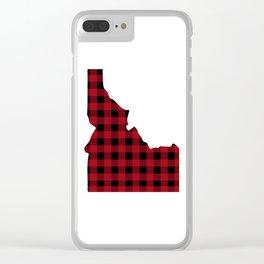 Idaho - Buffalo Plaid Clear iPhone Case
