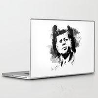 jfk Laptop & iPad Skins featuring John F. Kennedy JFK by viva la revolucion