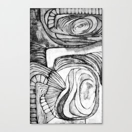 Onions (black and white) Canvas Print
