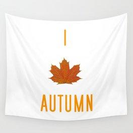I Love Autumn Wall Tapestry