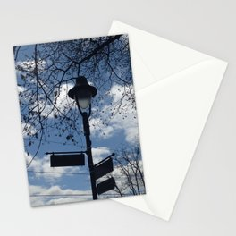 Maplewood - Sign post - blue sky Stationery Cards