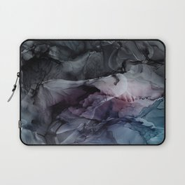 Moody Dark Chaos Inks Abstract Laptop Sleeve