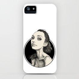 Arina Black Circle iPhone Case