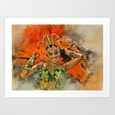 Carnival Queen Art Print