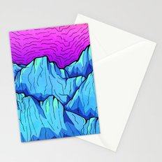 Blue tone mountains Stationery Cards