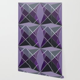 Mosaic tiled glass with a laser show Wallpaper